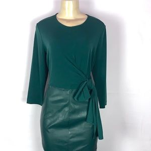 BRAND NEW NYC NEW YORK & CO FAUX LEATHER DRESS LG